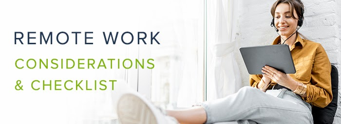 remote work considerations and checklist